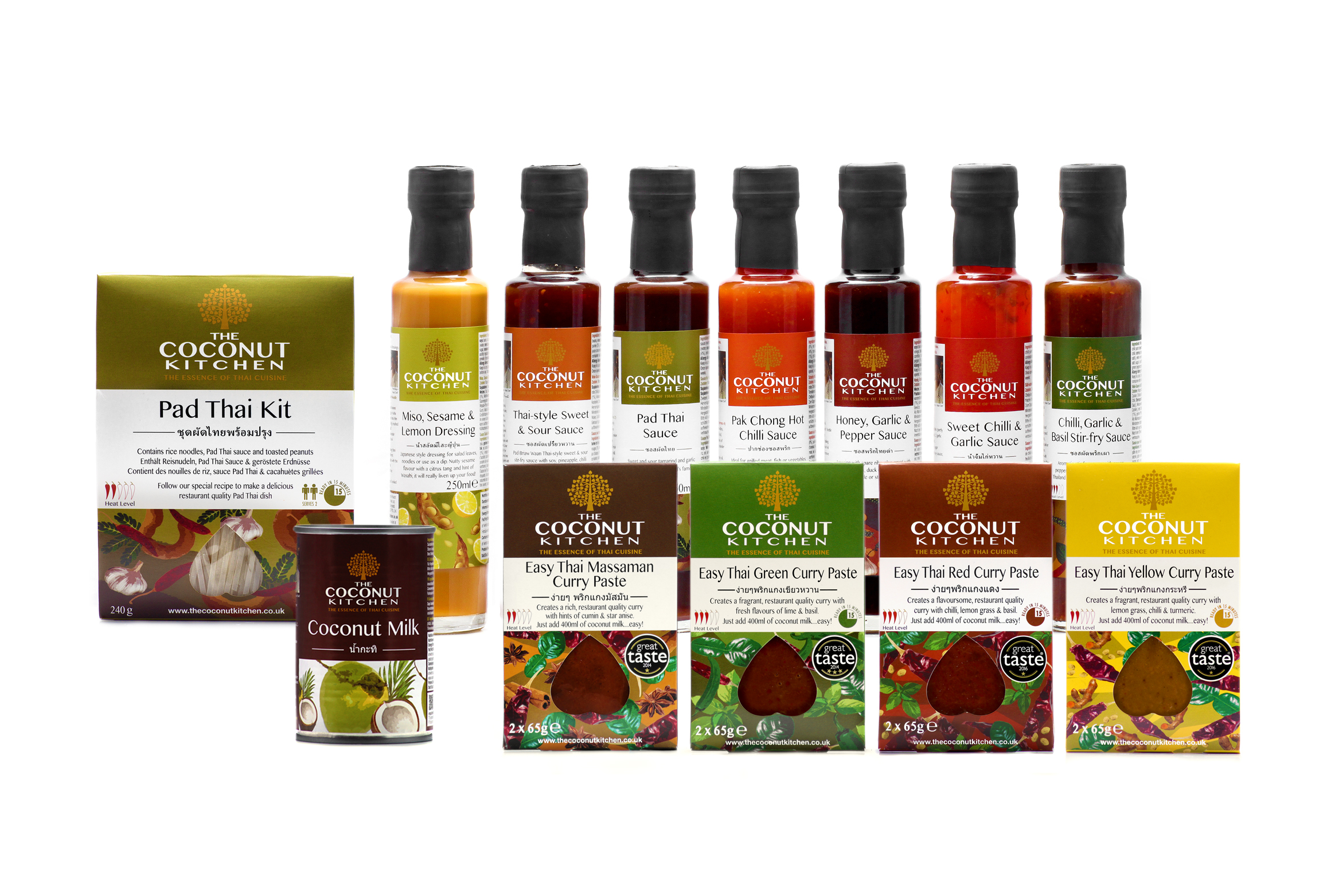 Award winning Thai curry pastes, stirfry sauces and dipping sauces. Pad Thai Kit thats also Vegan. Good quality coconut milk